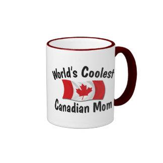 Coolest Canadian Mom Ringer Mug
