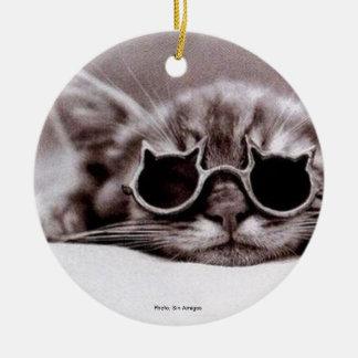 Coolest Cat alive Ceramic Ornament