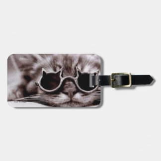 Coolest Cat alive Luggage Tag