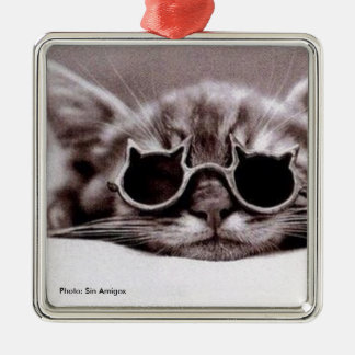 Coolest Cat alive - Metal Ornament