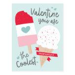 Coolest Classroom Valentine Postcard