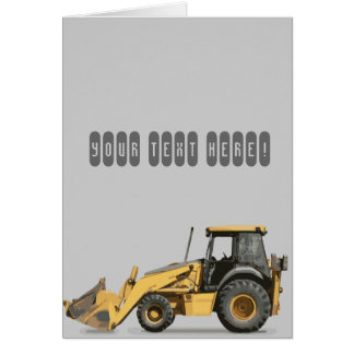 Coolest Construction Excavator Digger Card