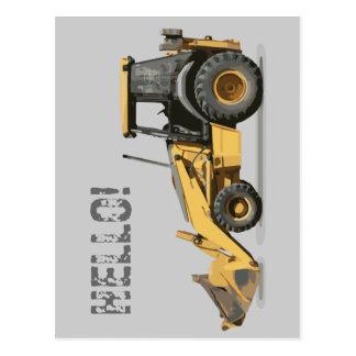 Coolest Construction Excavator Digger Postcard