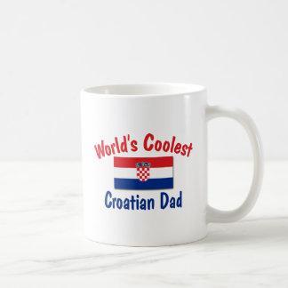 Coolest Croatian Dad Basic White Mug