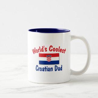 Coolest Croatian Dad Two-Tone Mug