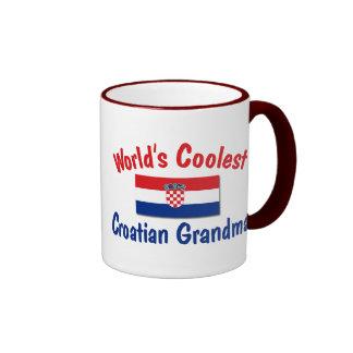 Coolest Croatian Grandma Ringer Mug