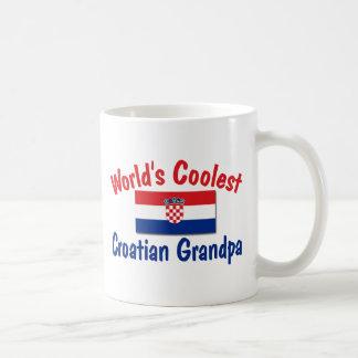 Coolest Croatian Grandpa Basic White Mug