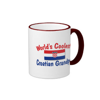 Coolest Croatian Grandpa Ringer Mug