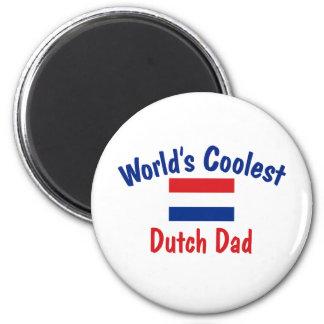Coolest Dutch Dad 6 Cm Round Magnet