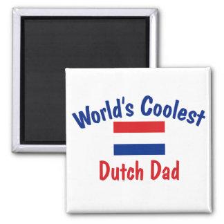 Coolest Dutch Dad Square Magnet