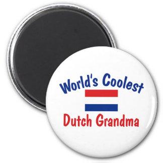 Coolest Dutch Grandma 6 Cm Round Magnet