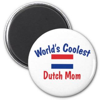 Coolest Dutch Mom 6 Cm Round Magnet