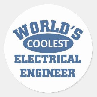 Coolest Electrical Engineer Round Sticker