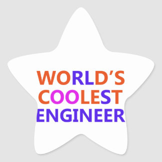 coolest Engineer Star Sticker