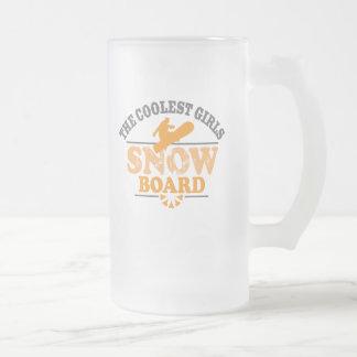 Coolest Girls Snowboard Coffee Mugs