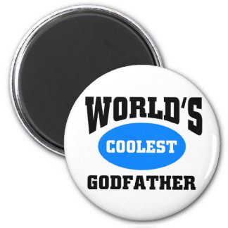 Coolest Godfather 6 Cm Round Magnet