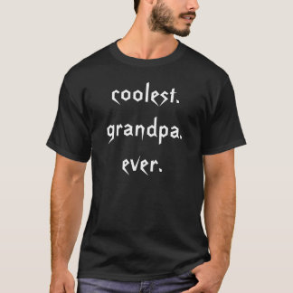 Coolest Grandpa Ever T-Shirt in Black