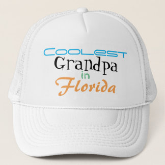 Coolest Grandpa in Florida Customize Trucker Hat
