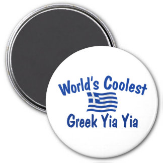 Coolest Greek Yia Yia 7.5 Cm Round Magnet