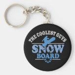 Coolest Guys Snowboard Keychain