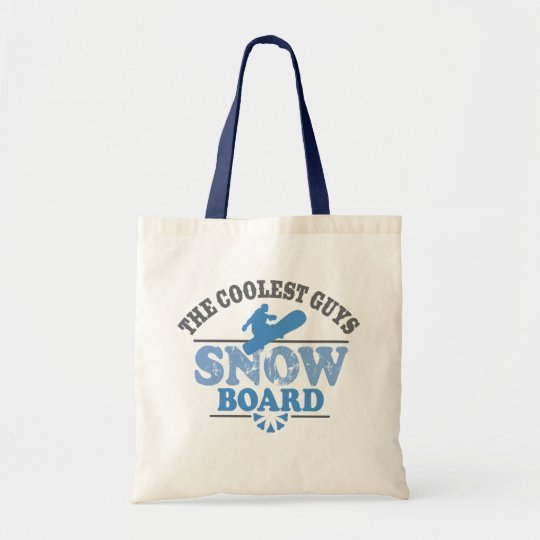 Coolest Guys Snowboard Tote Bag