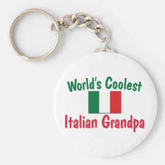 Coolest Italian Grandpa Basic Round Button Key Ring