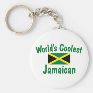 Coolest Jamaican Basic Round Button Key Ring
