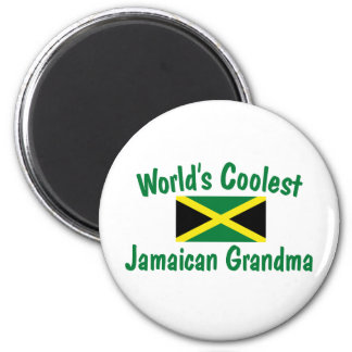 Coolest Jamaican Grandma 6 Cm Round Magnet