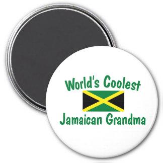 Coolest Jamaican Grandma 7.5 Cm Round Magnet