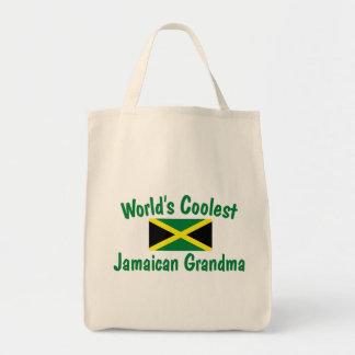 Coolest Jamaican Grandma Grocery Tote Bag