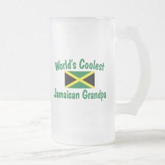 Coolest Jamaican Grandpa Frosted Glass Mug