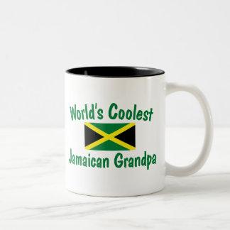 Coolest Jamaican Grandpa Two-Tone Mug