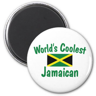 Coolest Jamaican 6 Cm Round Magnet