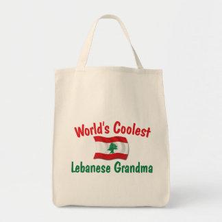 Coolest Lebanese Grandma Grocery Tote Bag