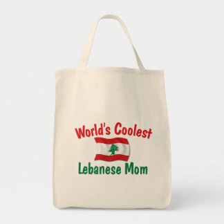Coolest Lebanese Mom Grocery Tote Bag