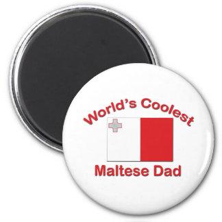Coolest Maltese Dad Magnet