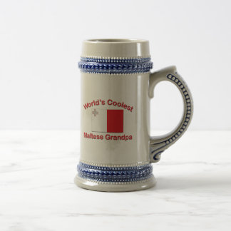 Coolest Maltese Grandpa Beer Stein