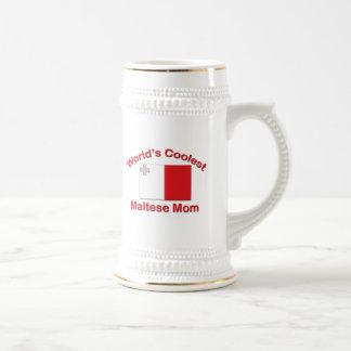 Coolest Maltese Mom Beer Steins