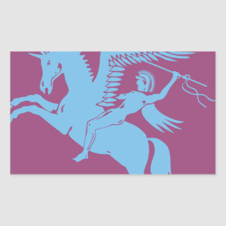 Coolest pegasus creature you love rectangular sticker