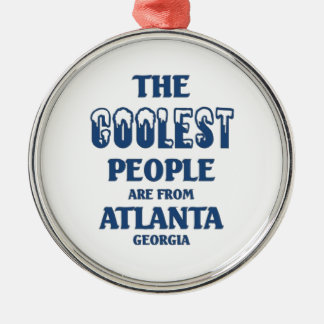 Coolest people are from Atlanta Christmas Ornament