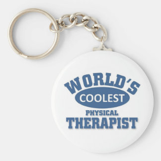 Coolest Physical Therapist Basic Round Button Key Ring