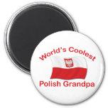 Coolest Polish Grandpa 6 Cm Round Magnet