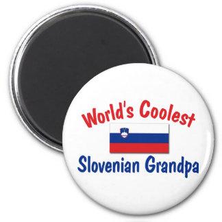 Coolest Slovenian Grandpa 6 Cm Round Magnet