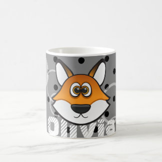 Coolly Fox Custom Color Background with name Coffee Mug