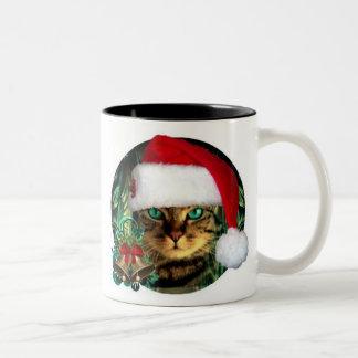 Coolly Santa Cat Christmas Mug