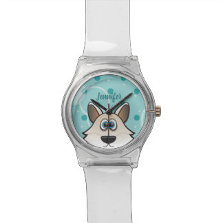 Coolly White Arctic Fox Custom name and Color Watch