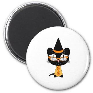 Coolsville Halloween Kitty Fridge Magnet