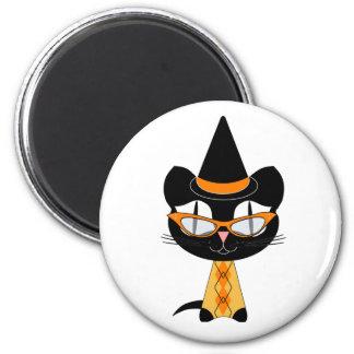 Coolsville Halloween Kitty Refrigerator Magnet