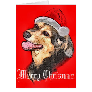 Coonhound Christmas card