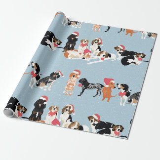 Coonhound Christmas Wrapping paper